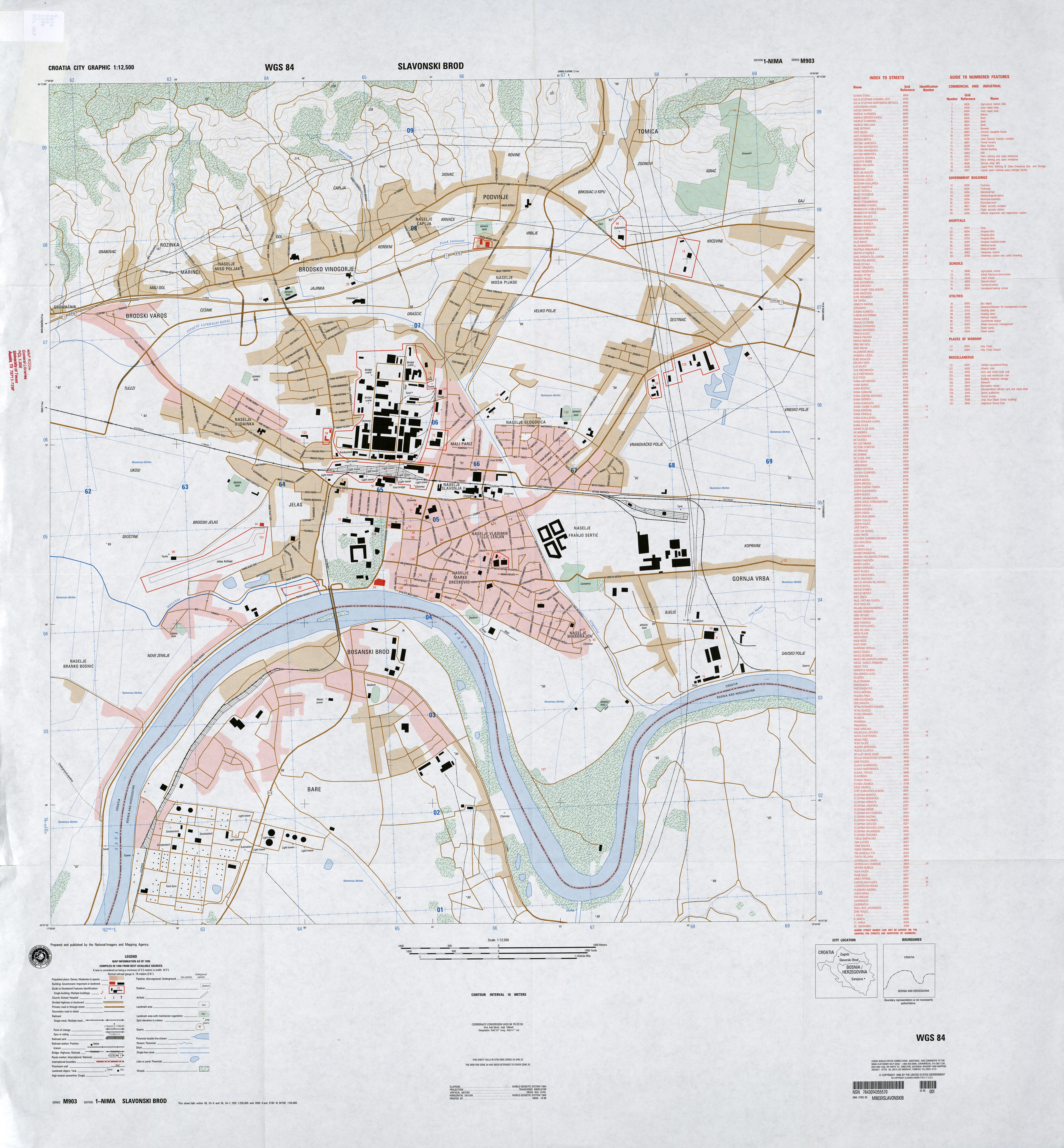 Slavonski Brod Croatia  City new picture : Plan Grada Slavonski Brod City Map Of Slavonski Brod | Share The ...