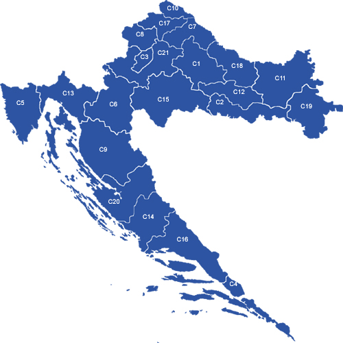 Croatia Counties